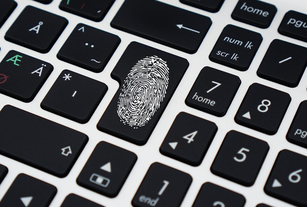 Online Marke als Fingerabdruck